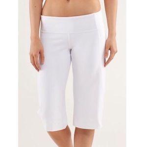 Lululemon White Wide Leg Crop Yoga Legging Size 12